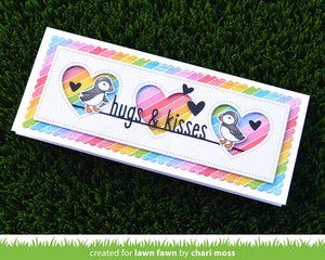 Lawn Fawn - HUGS AND KISSES Line Border - Lawn Cuts Die