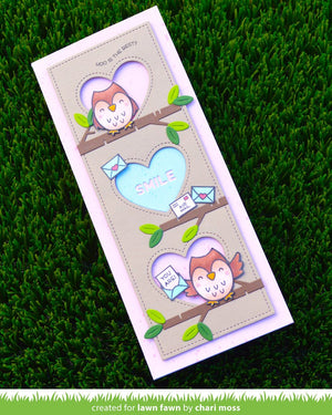 Lawn Fawn - SCALLOPED SLIMLINE WITH HEARTS: PORTRAIT - Lawn Cuts Die