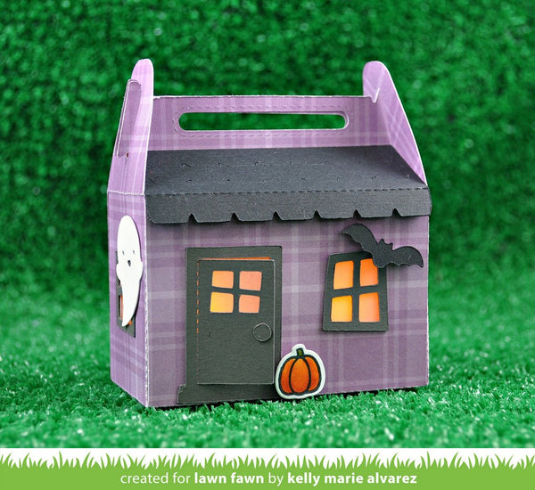 Lawn Fawn - Scalloped Treat Box HAUNTED HOUSE ADD-ON