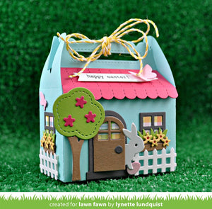 Lawn Fawn - Scalloped Gift Box SPRING HOUSE ADD-ON - Lawn Cuts DIES