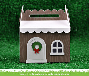 Lawn Fawn - Scallop Treat Box WINTER HOUSE ADD-ON - Lawn Cuts DIES