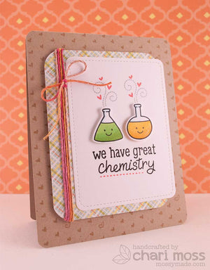 Lawn Fawn - Science of Love - CLEAR STAMPS 23 pc - Hallmark Scrapbook - 13
