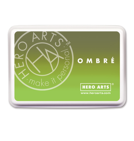 Hero Arts Ombre Ink Pad - LIME TO FOREVER GREEN - Hallmark Scrapbook