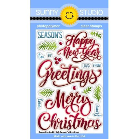 Sunny Studio - SEASONS GREETINGS - Stamp Set