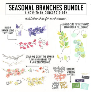 Concord & 9th - SEASONAL BRANCHES - Stamps Set