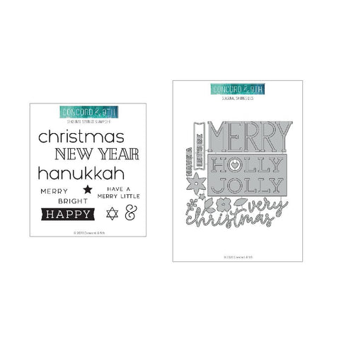 Concord & 9th - SEASONAL SAYINGS - Stamps & Dies BUNDLE Set