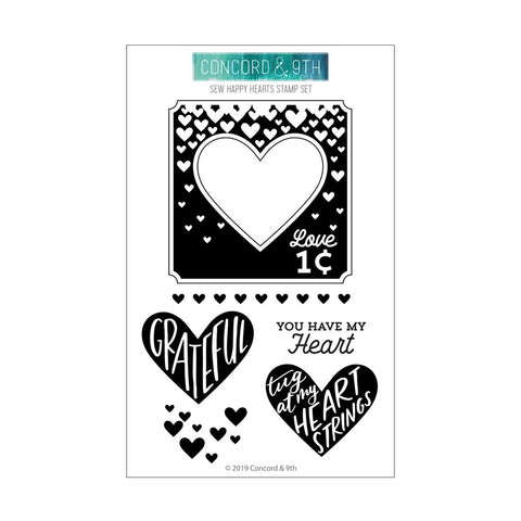 Concord & 9th - SEW HAPPY HEARTS Stamps set