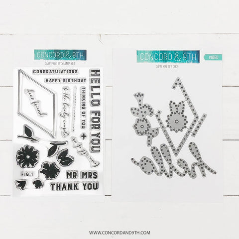 Concord & 9th - SEW PRETTY Stamp and Die BUNDLE