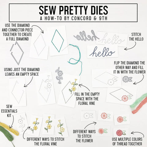 Concord & 9th - SEW PRETTY Stamp Set