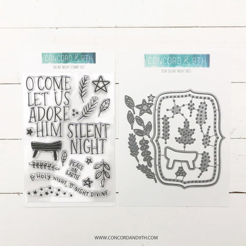Concord & 9th - SILENT NIGHT Stamps and Dies BUNDLE