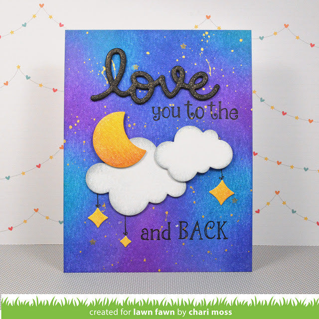How to make scrapbook simple -  Lawn Fawn Simple Puffy Clouds Lawn Cuts Dies Hallmark Scrapbook 5