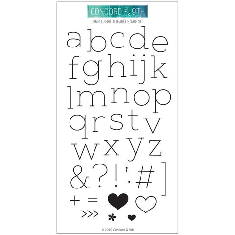 Concord & 9th - SIMPLE SERIF ALPHABET - Stamps set