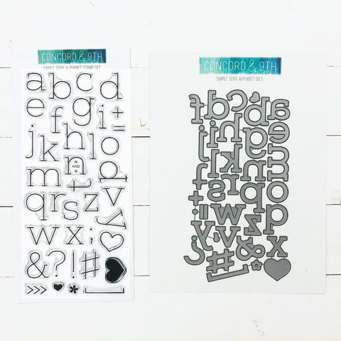 Concord & 9th - SIMPLE SERIF ALPHABET - Stamps and Dies BUNDLE set - 15% OFF!