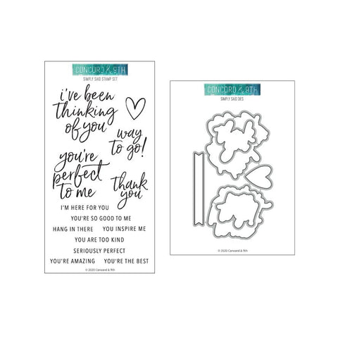 Concord & 9th - SIMPLY SAID - Stamps and Dies BUNDLE Set