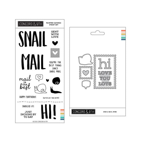 Concord & 9th - SNAIL MAIL - Stamps and Dies BUNDLE Set