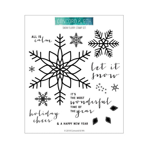 Concord & 9th - SNOW FLURRY Stamps Set - 30% OFF!