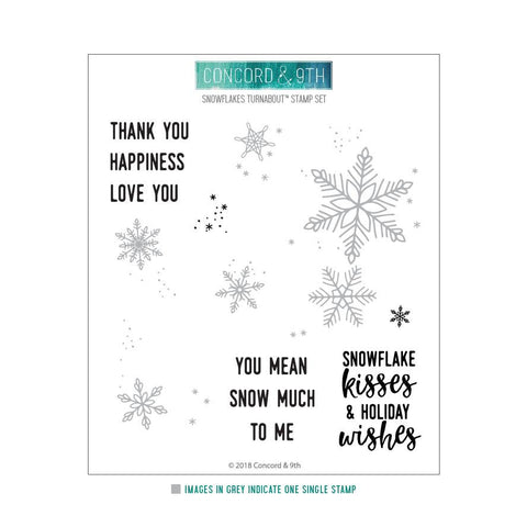 Concord & 9th - SNOWFLAKES TURNABOUT Stamps Set