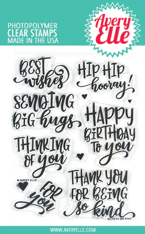 Avery Elle - SO KIND - Clear Stamp Set
