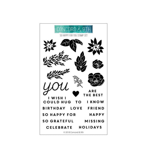 Concord & 9th - SO HAPPY FOR YOU Stamps set - 50% OFF!