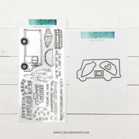 Concord & 9th - SPECIAL DELIVERY Stamps and Dies BUNDLE set
