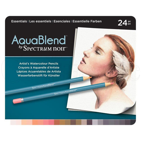 Spectrum - AquaBlend ESSENTIALS set - Aqua Blend Watercolor Pencils - 24 pc - Hallmark Scrapbook
