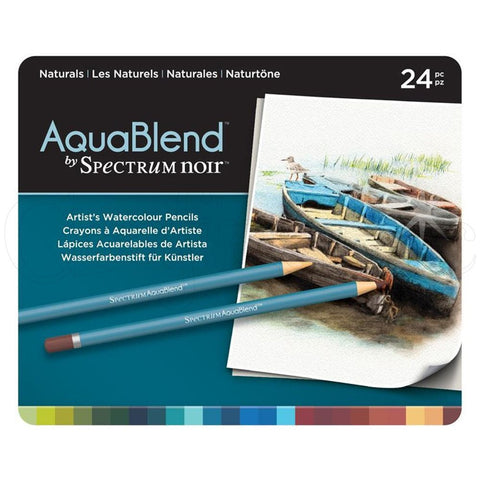 Spectrum - AquaBlend NATURALS set - Aqua Blend Watercolor Pencils - 24 pc - Hallmark Scrapbook
