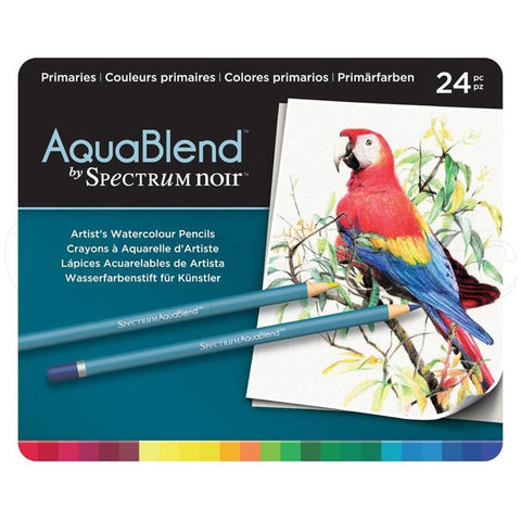 Spectrum - AquaBlend PRIMARIES set - Aqua Blend Watercolor Pencils - 24 pc - Hallmark Scrapbook