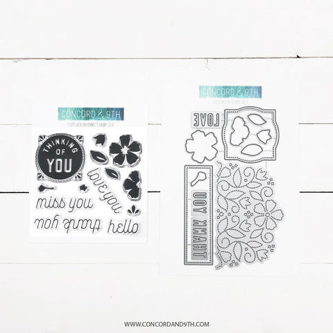 Concord & 9th - STITCHED BLOOMS - Stamps  and Dies BUNDLE Set