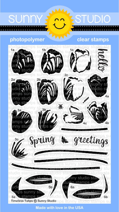 Sunny Studio - TIMELESS TULIPS - Clear Stamp Set
