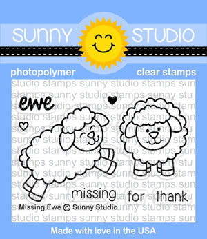 Sunny Studio - MISSING EWE - Stamp