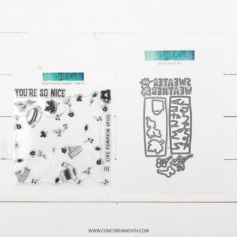 Concord & 9th - SWEATER WEATHER - Stamps and Dies BUNDLE Set