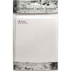 Tim Holtz - Distress Cracked Leather Cardstock 4.25 x 5.5 - 12PK