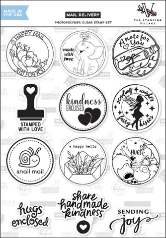 The Stamping Village - MAIL DELIVERY - Clear Stamp Set