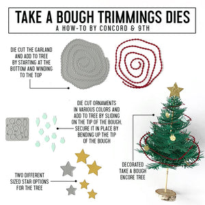 Concord & 9th - TAKE A BOUGH ENCORE and TRIMMINGS - Dies BUNDLE Set