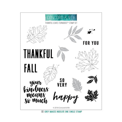 Concord & 9th - THANKFUL LEAVES Turnabout Stamps set