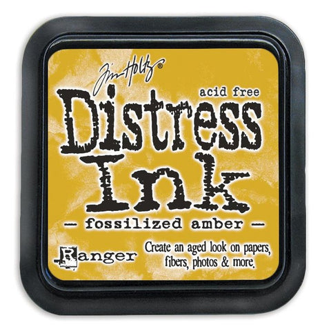Tim Holtz Ranger Distress Ink Pad - FOSSILIZED AMBER -  April 2015 - Hallmark Scrapbook - 1