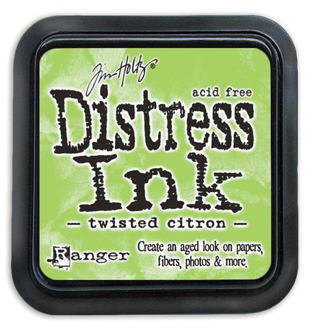 Tim Holtz Ranger Distress Ink Pad - TWISTED CITRON -  May 2015 - Hallmark Scrapbook - 1