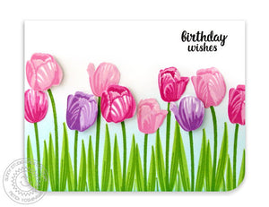 Sunny Studio - TIMELESS TULIPS - Die Set - Hallmark Scrapbook - 3