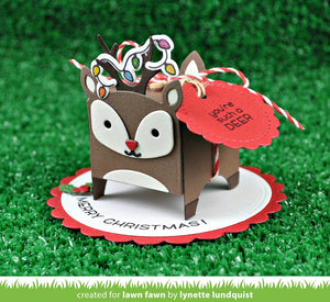 Lawn Fawn - TINY GIFT BOX DEER Add-On Die set