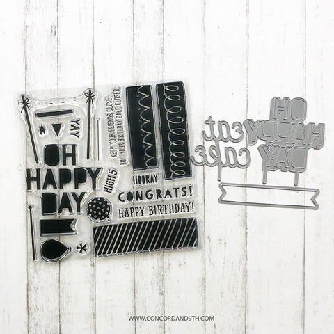 Concord & 9th - TOP IT OFF Stamps  and Dies set Bundle