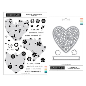 Concord & 9th - Triple-Step Blooming Heart - BUNDLE