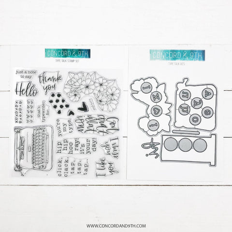 Concord & 9th - TYPE TALK Stamps & Dies BUNDLE Set
