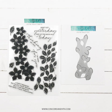 Concord & 9th - UPLIFTING THOUGHTS - Stamps and Dies BUNDLE Set