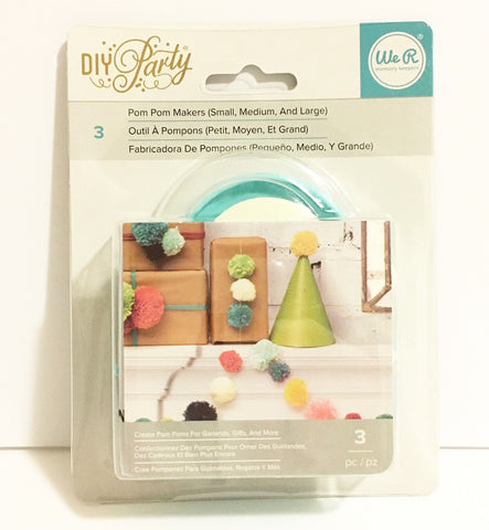 We R DIY POM-POM MAKERS set by WeR Memory Keepers - 3 Sizes - Hallmark Scrapbook - 1