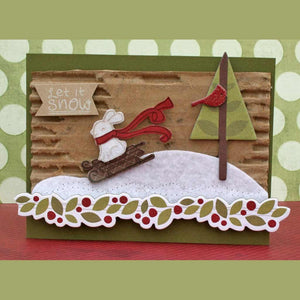 Lawn Fawn - WINTER BUNNY - Clear STAMPS - Hallmark Scrapbook - 7
