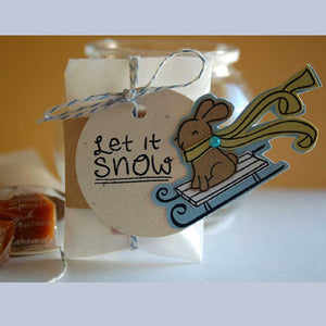 Lawn Fawn - WINTER BUNNY - Clear STAMPS - Hallmark Scrapbook - 4