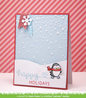 Lawn Fawn - Winter Penguin - CLEAR STAMPS 5 pc - Hallmark Scrapbook - 3