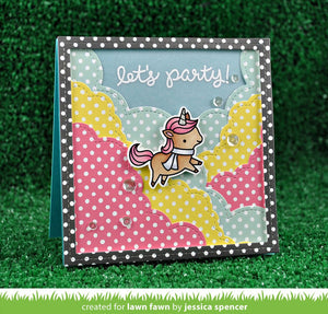 Lawn Fawn - WINTER UNICORN - Lawn Cuts DIE - Hallmark Scrapbook - 3