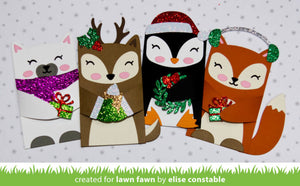Lawn Fawn - Woodland Critter Huggers WINTER Add-On Dies set