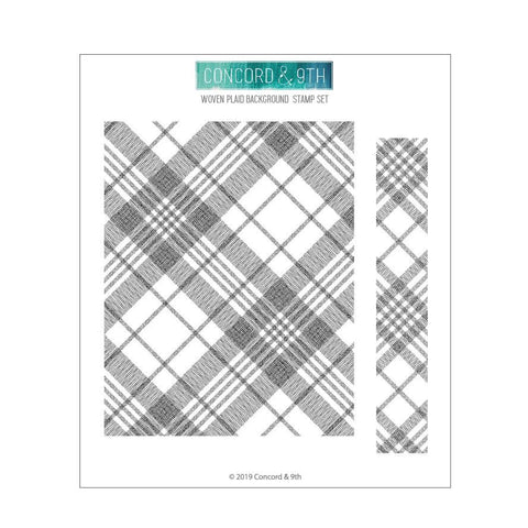 Concord & 9th - WOVEN PLAID Background - Stamps Set